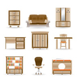 home and office furniture vector image