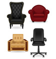set armchair vector image vector image