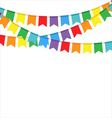 Party flags on a white background vector image