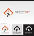 building repaire creative logo vector image
