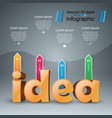 idea 3d digital infographic vector image