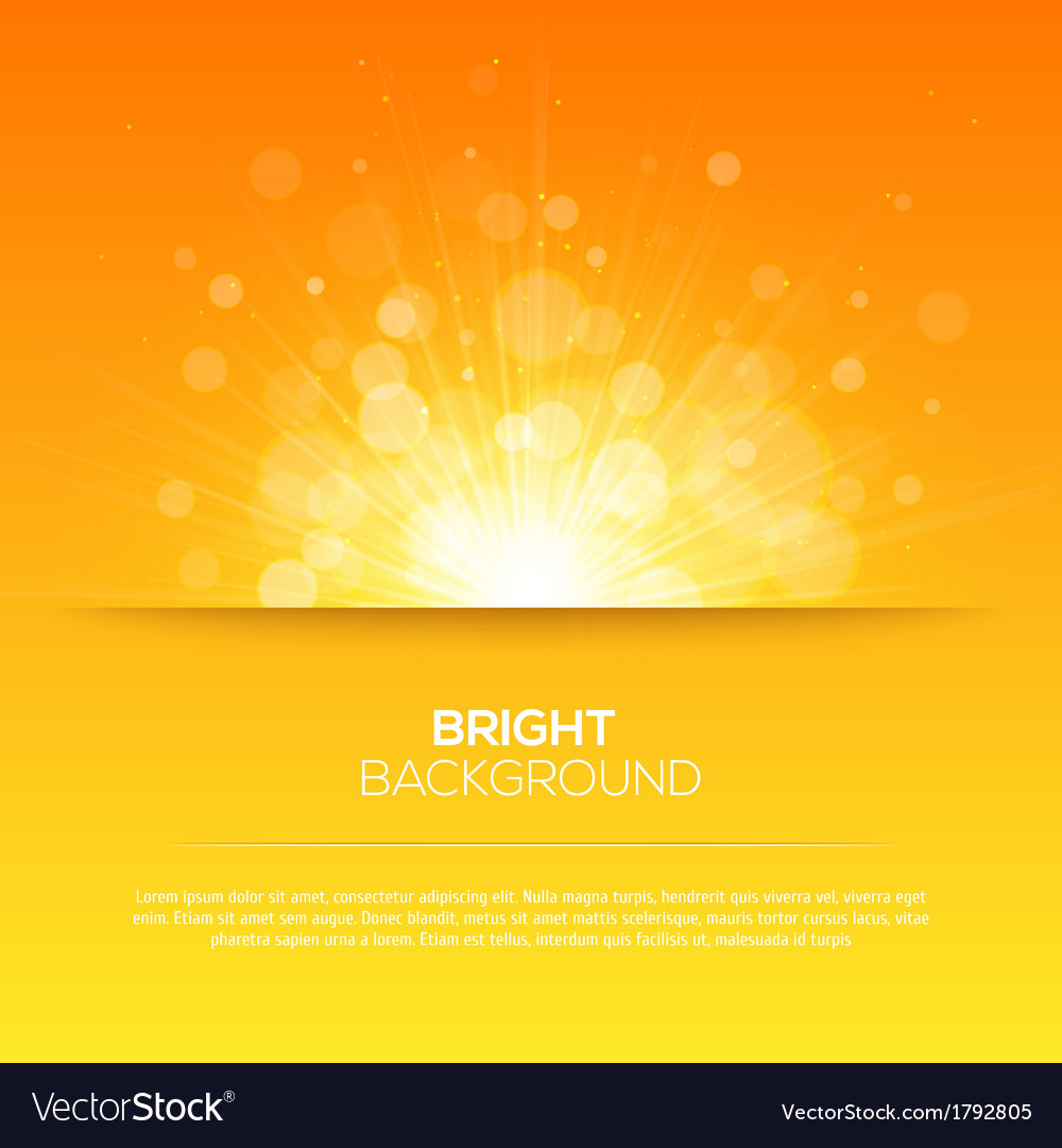 Shiny sun sunbeams sunrays bokeh vector