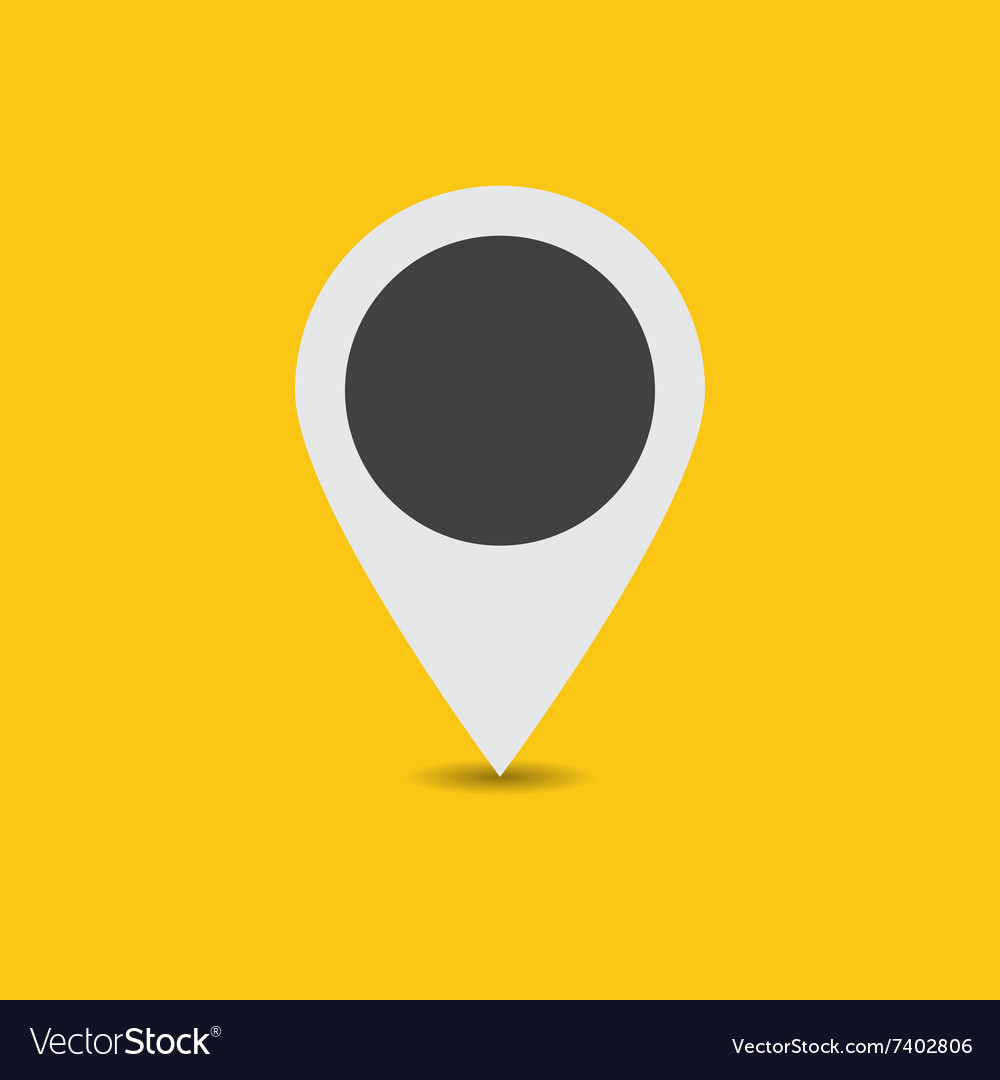 White map pointer vector