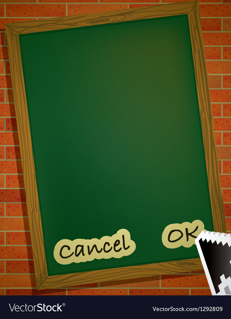 Brickwall chalkboard vector