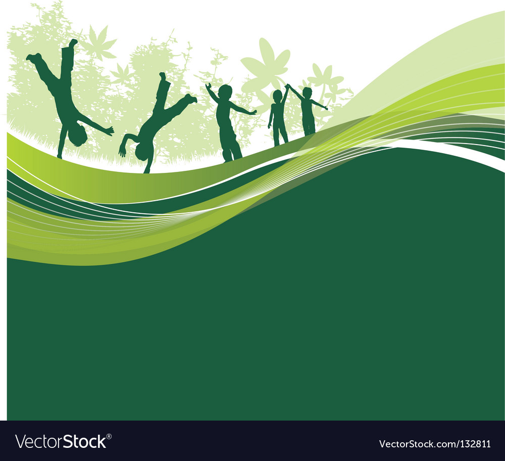 Children woodland vector