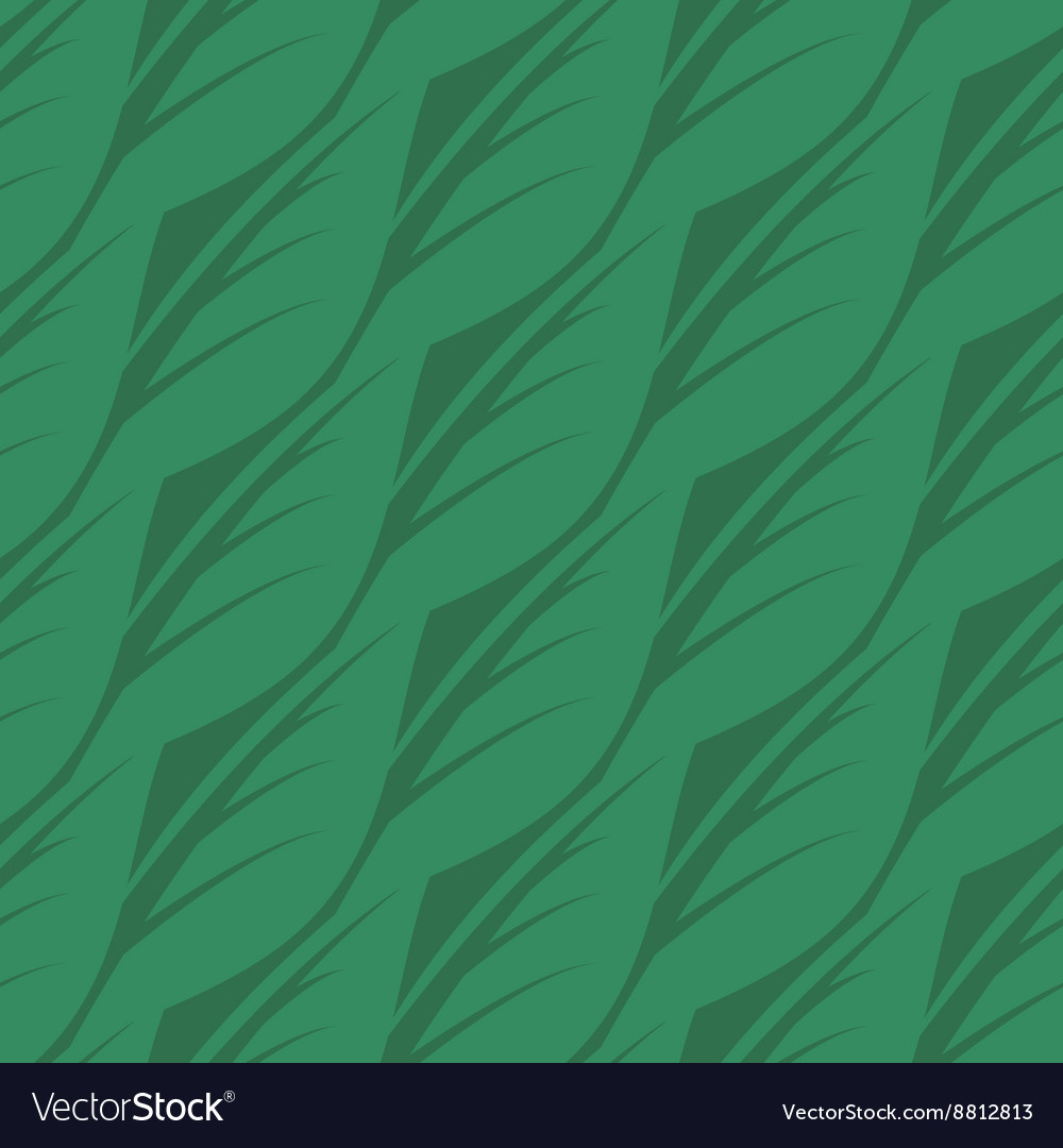 Abstract seamless pattern of leaves vector