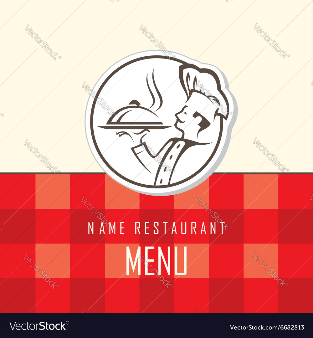 Chef menu design vector