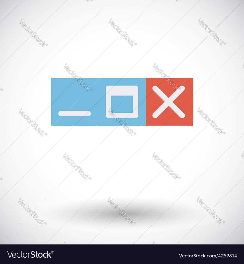 Web navigation button vector