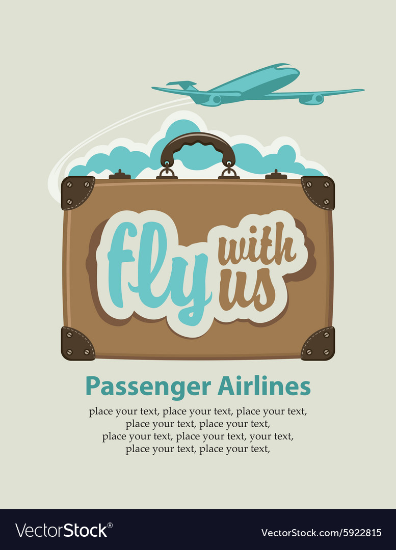 Fly with us vector