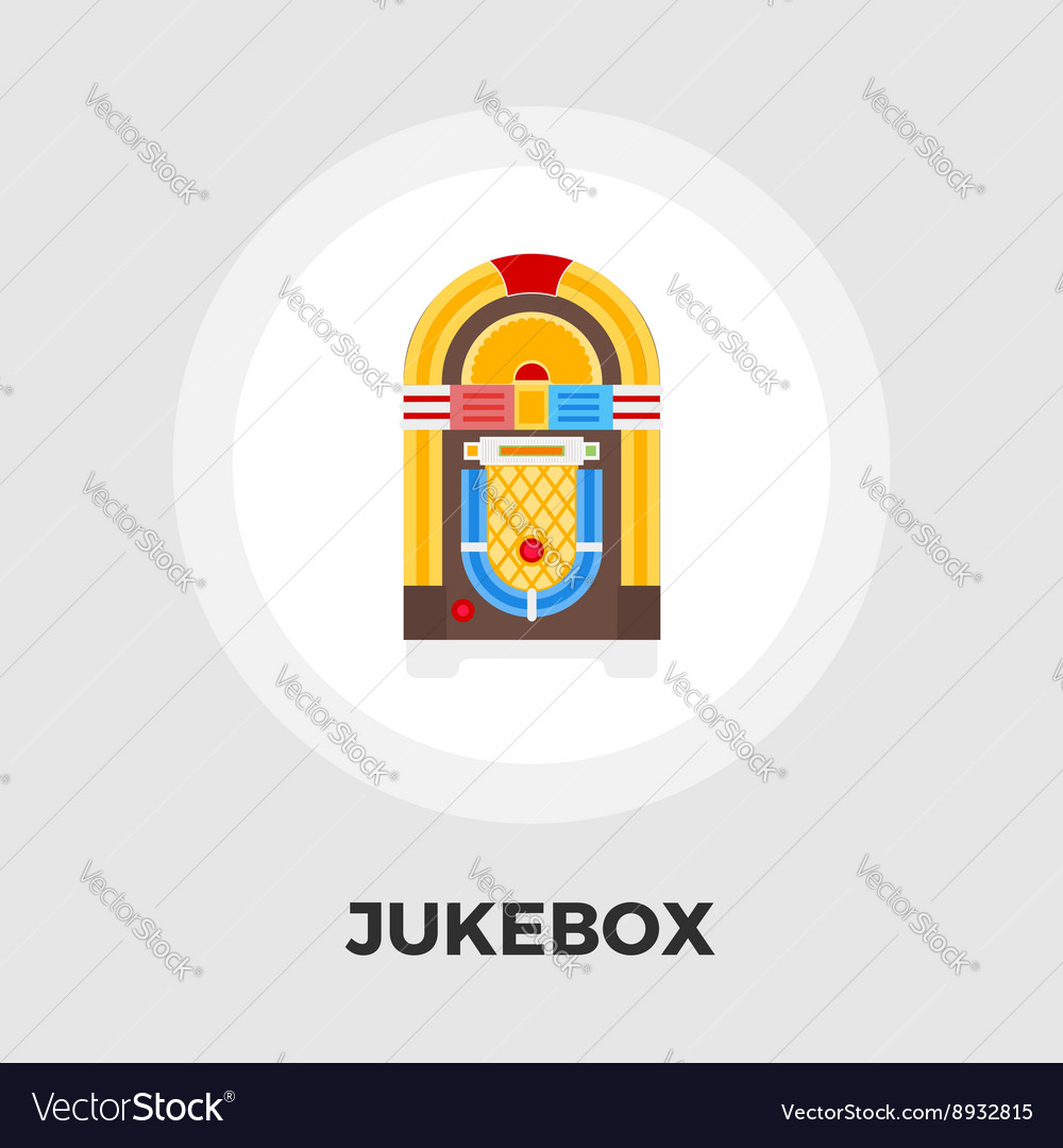 Jukebox flat icon vector