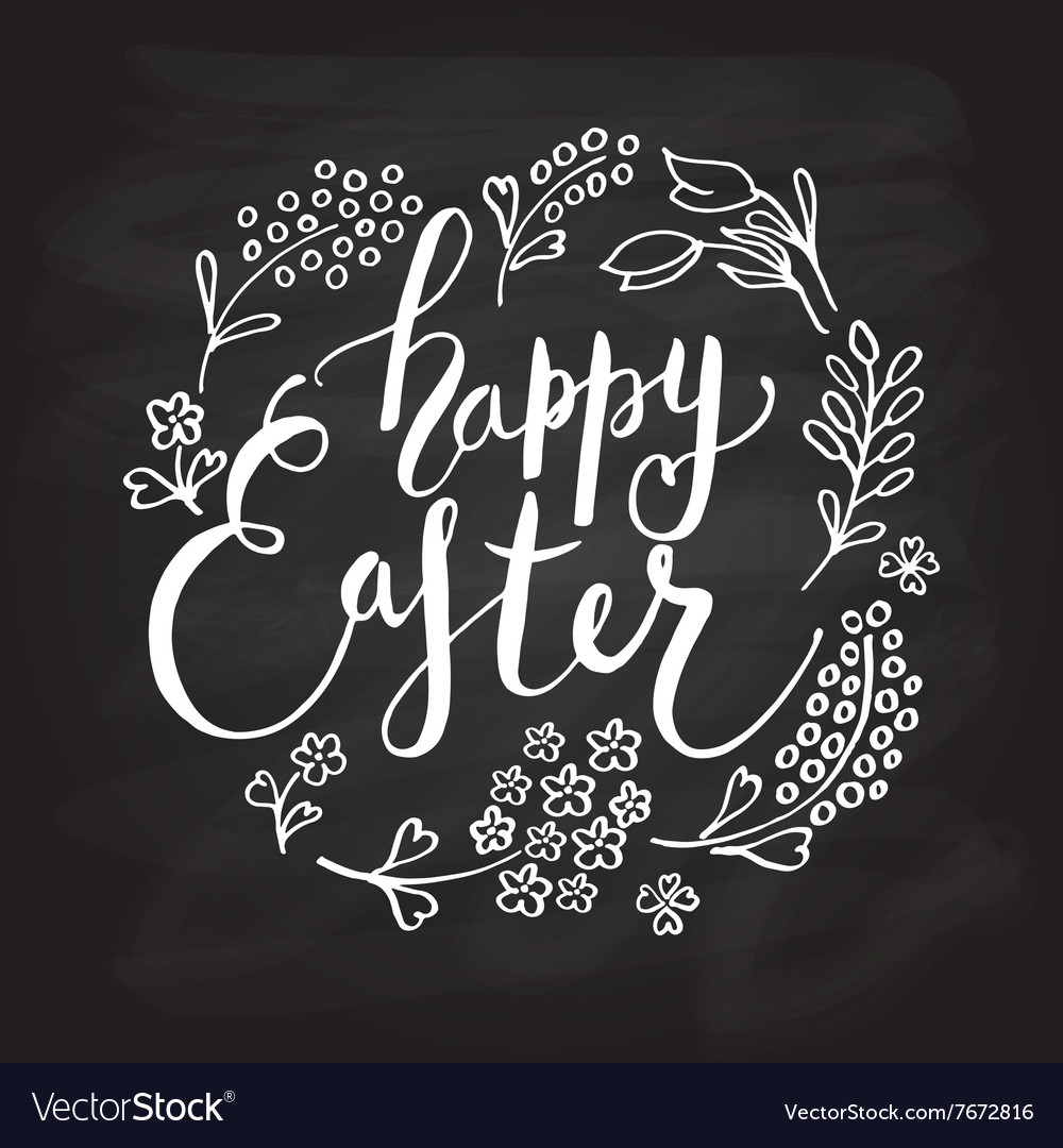 Easter postcard card invitation flyer banner vector