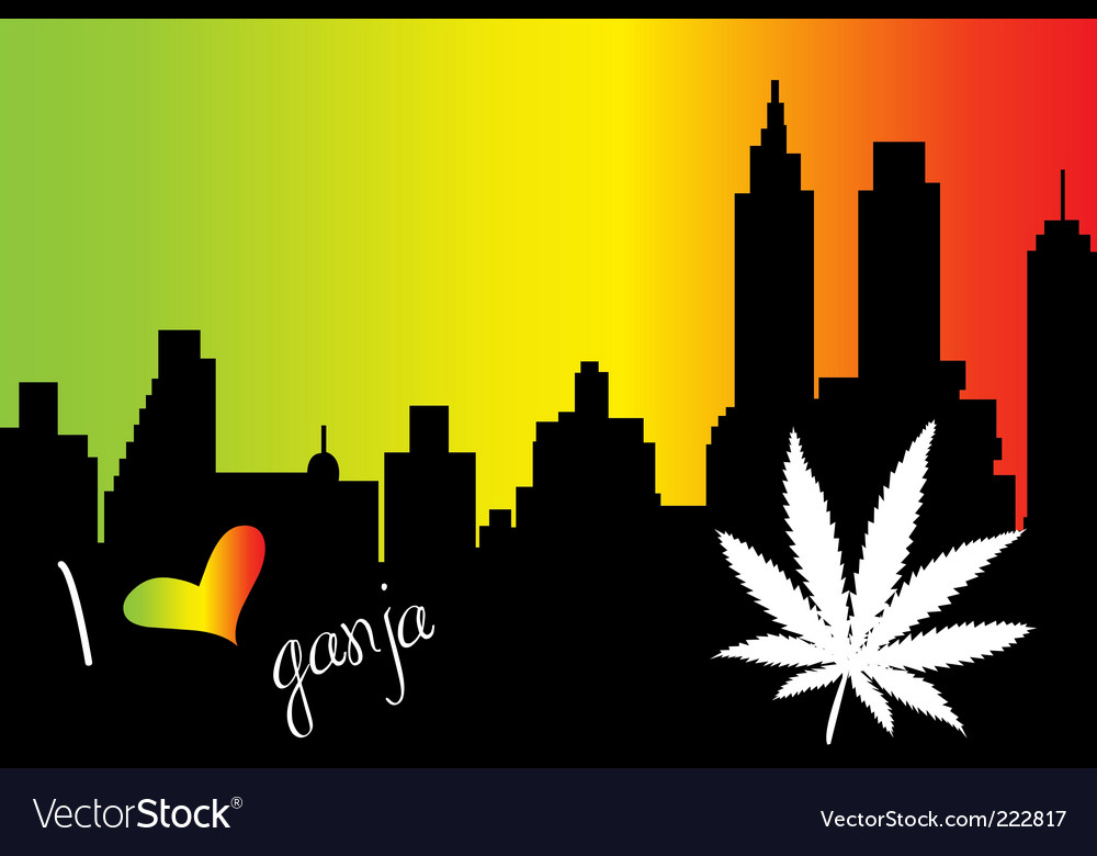 I love ganja city vector
