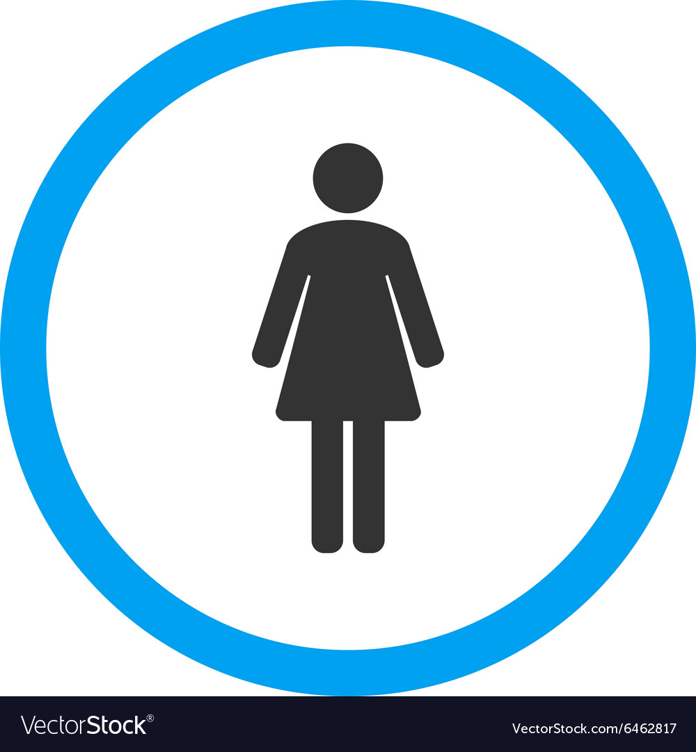 Woman rounded icon vector