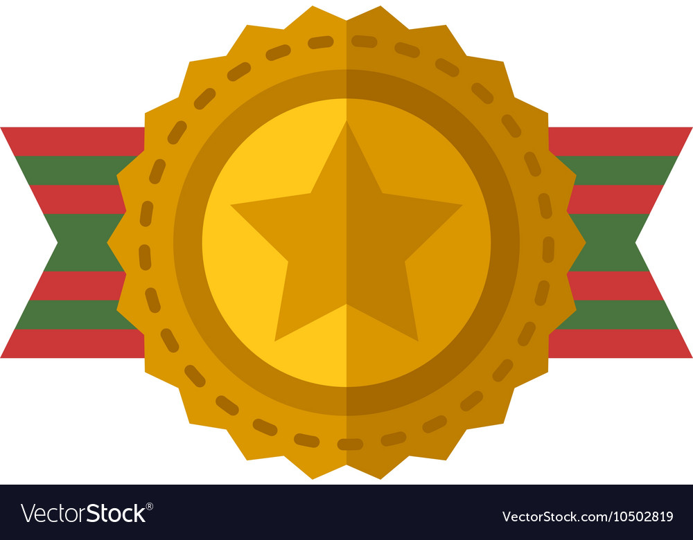 Sports award icon vector