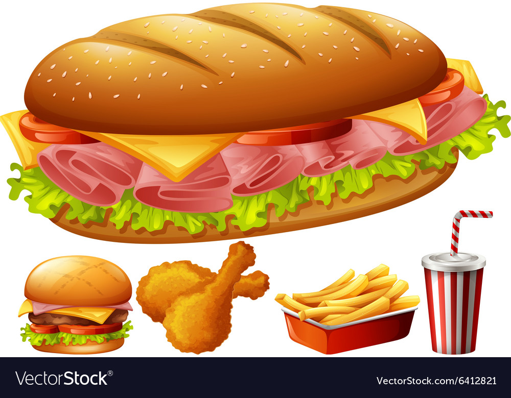 Different kind of food vector