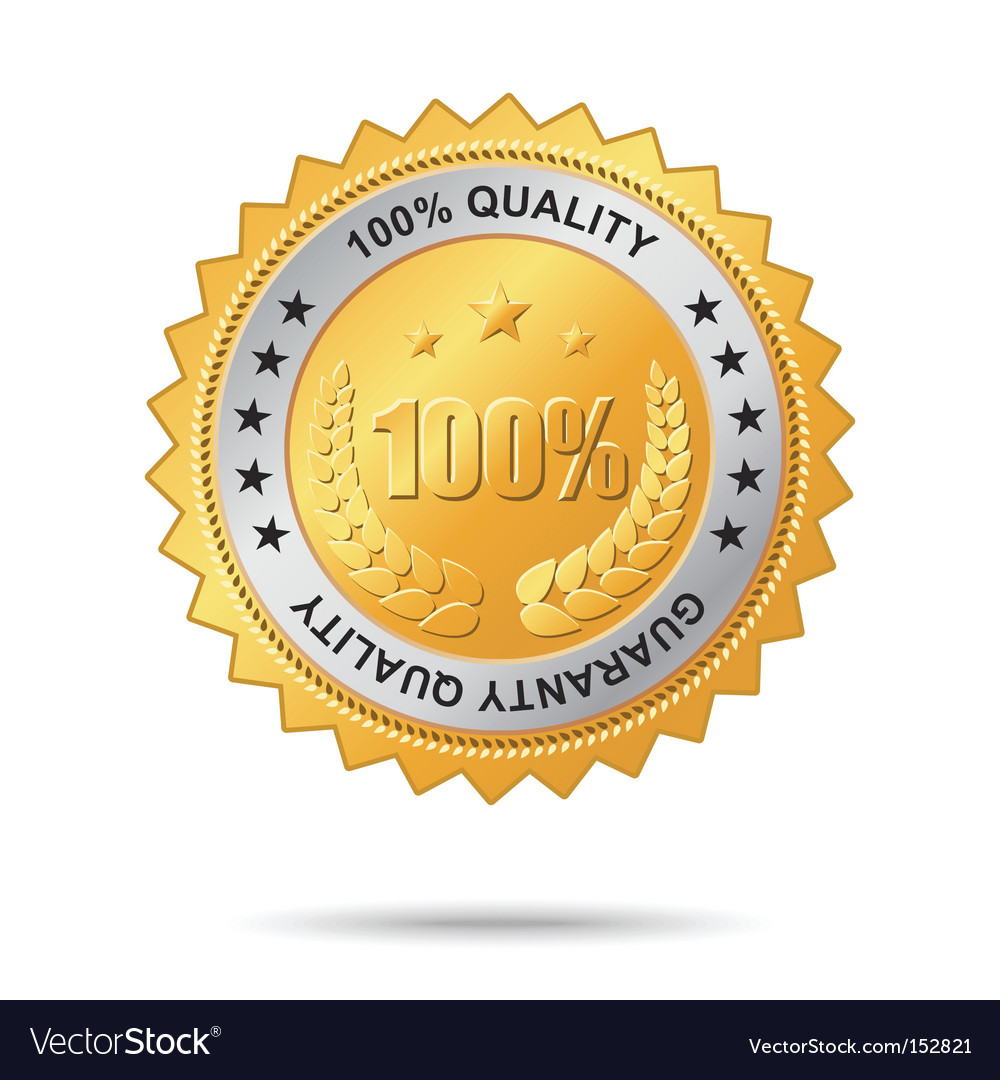 Guaranty quality golden label vector
