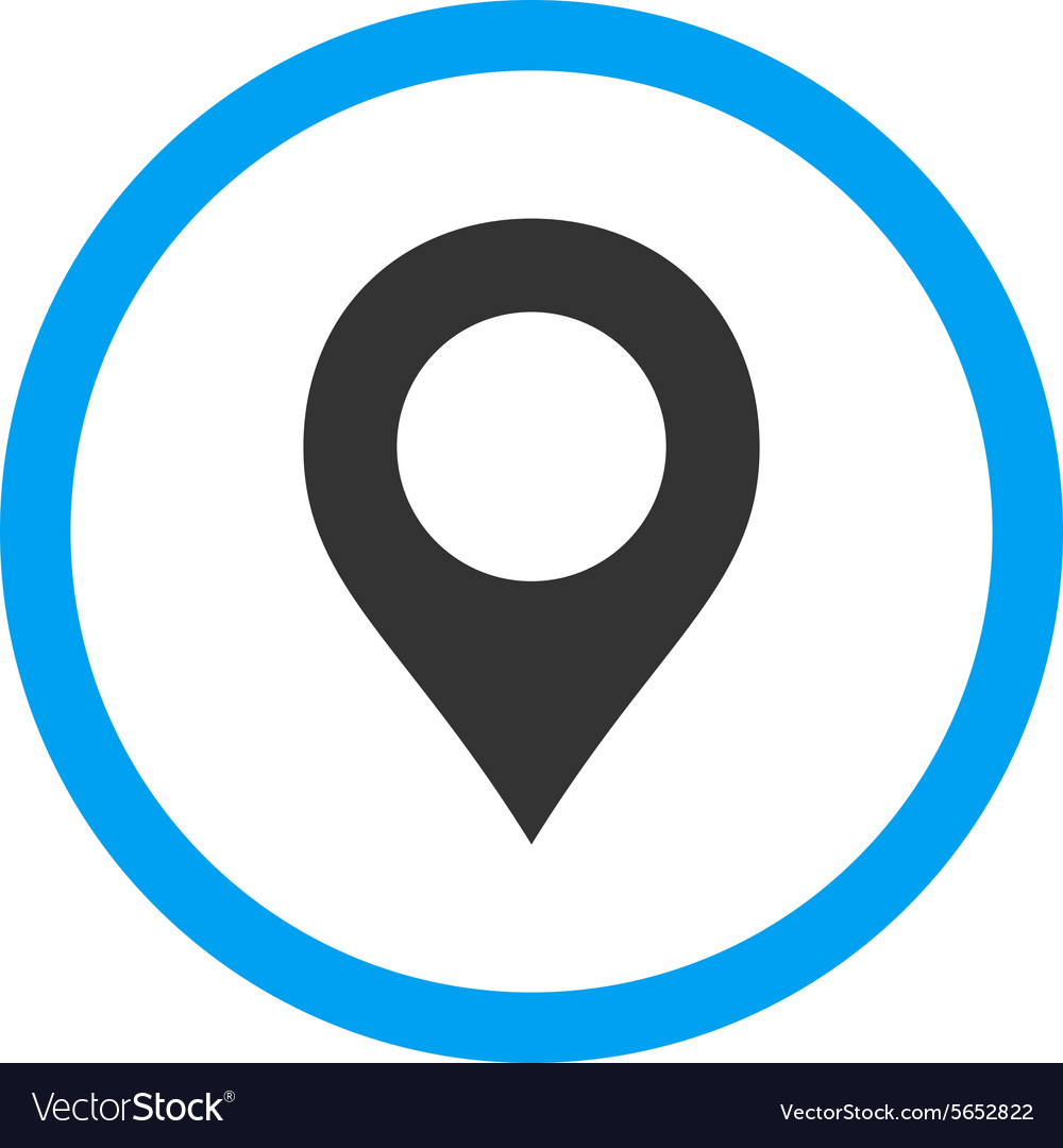 Map marker flat blue and gray colors rounded vector