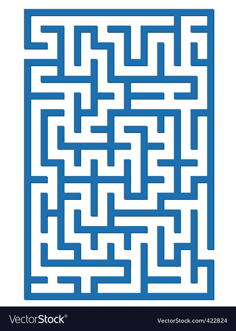 Blue labyrinth vector