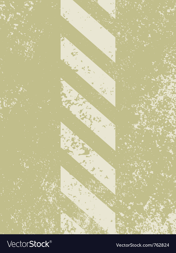 Grungy and worn hazard stripes vector