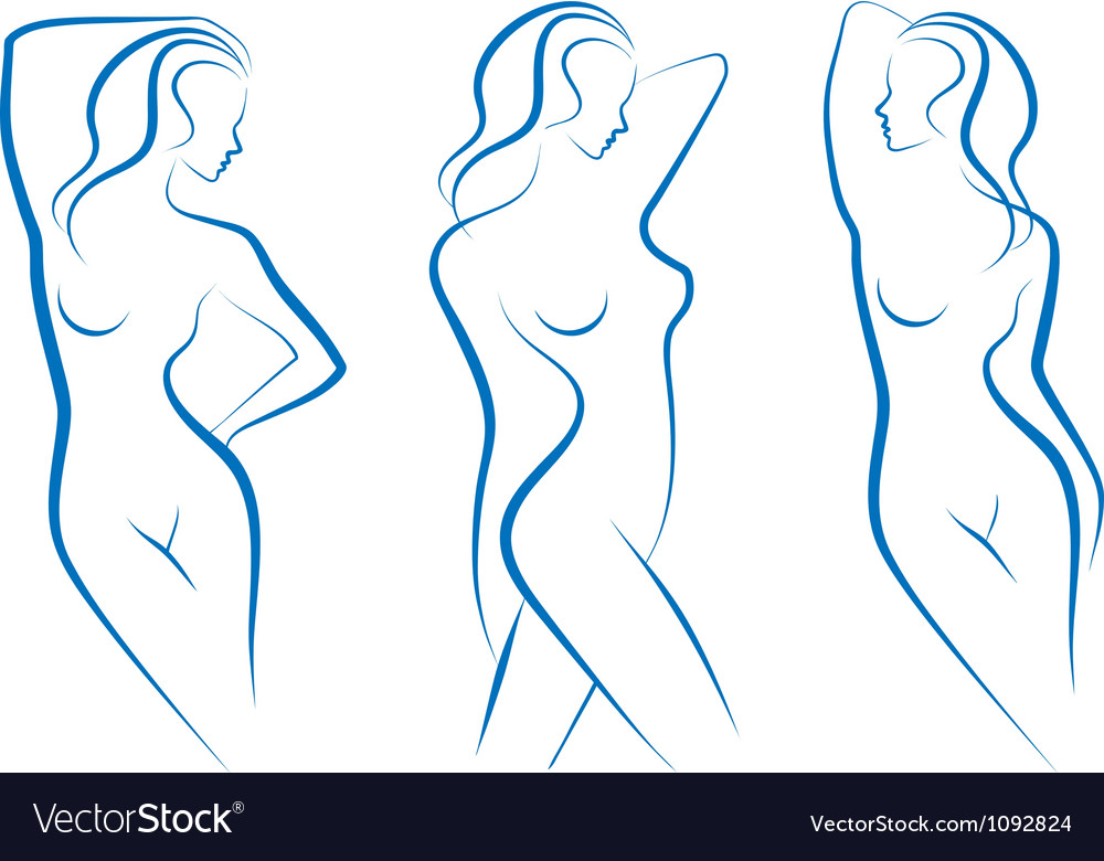 Woman sketches vector