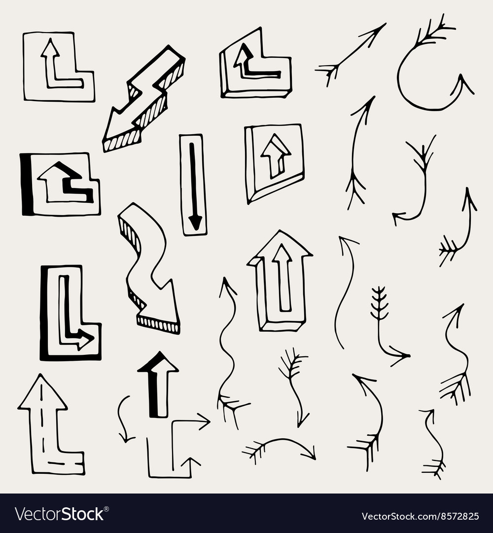 Arrows and lines vector