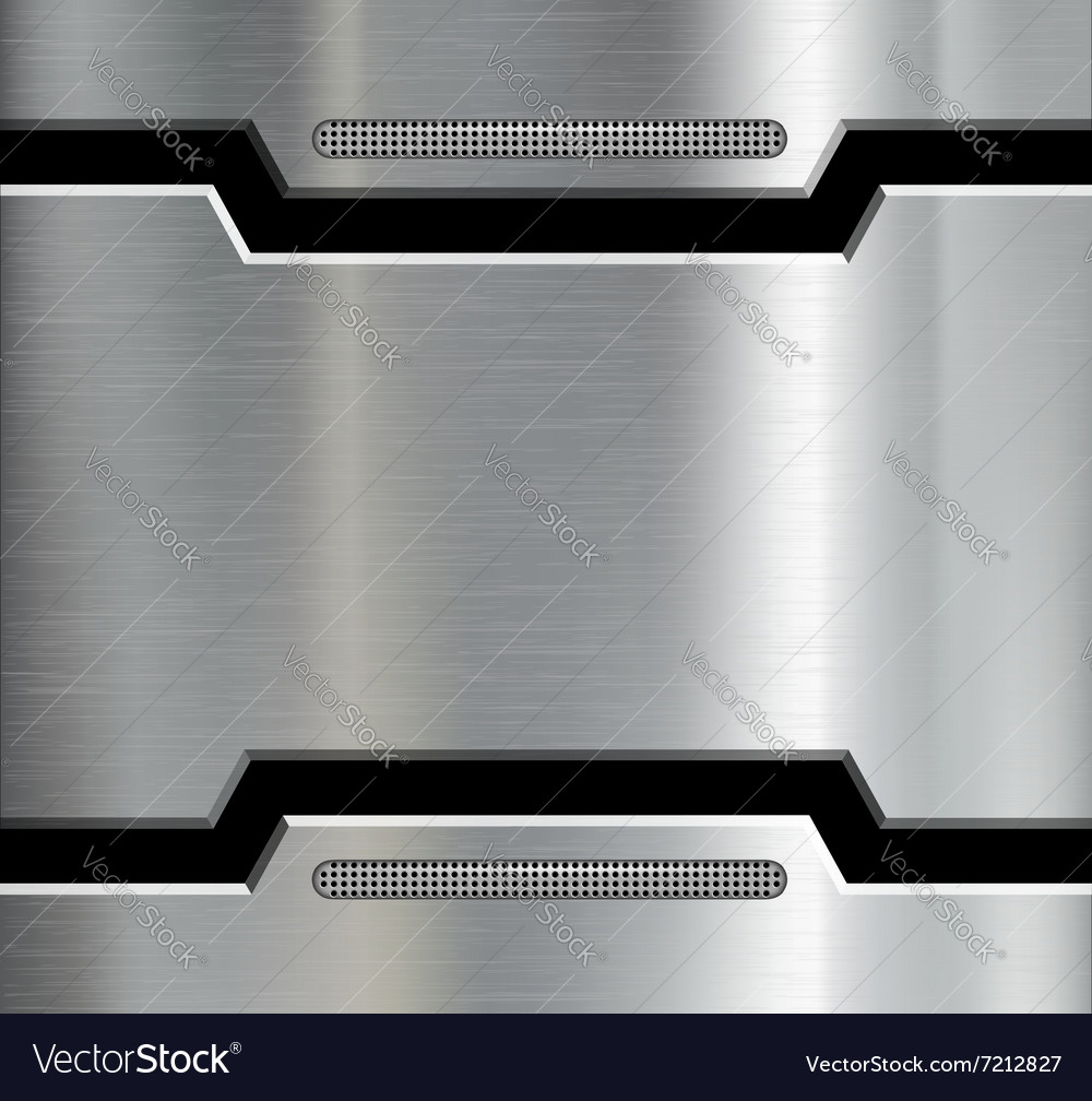 Texture of the metal plate vector