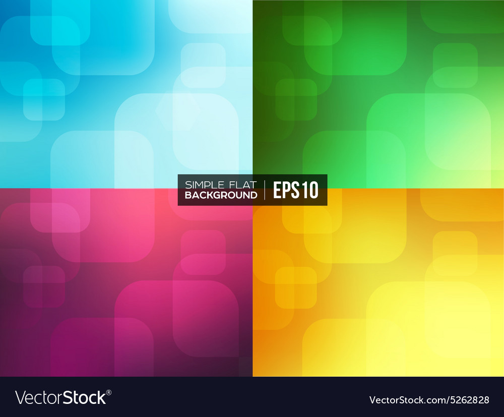 Set of simple flat gradient backgrounds vector