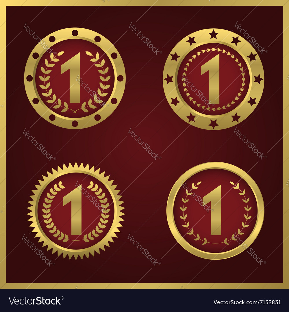 First place set vector