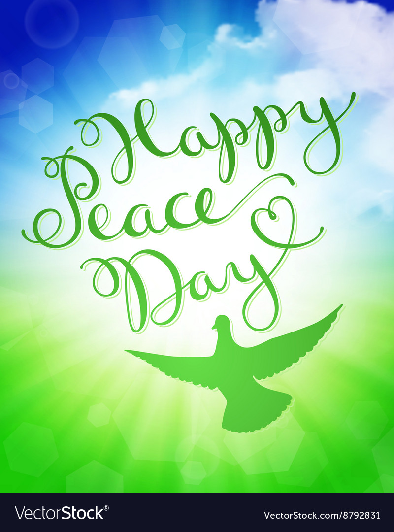 International peace day vector