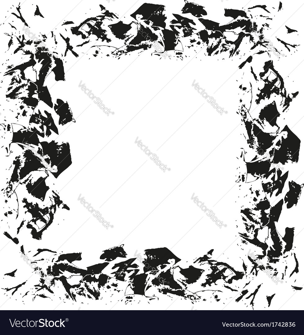 Abatract frame painted by brush background vector
