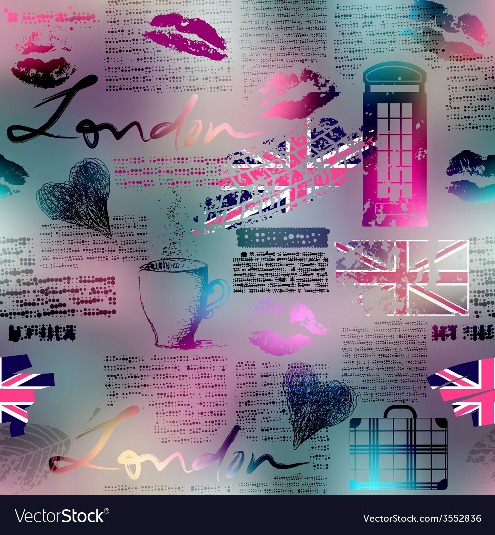 Collage in london style vector