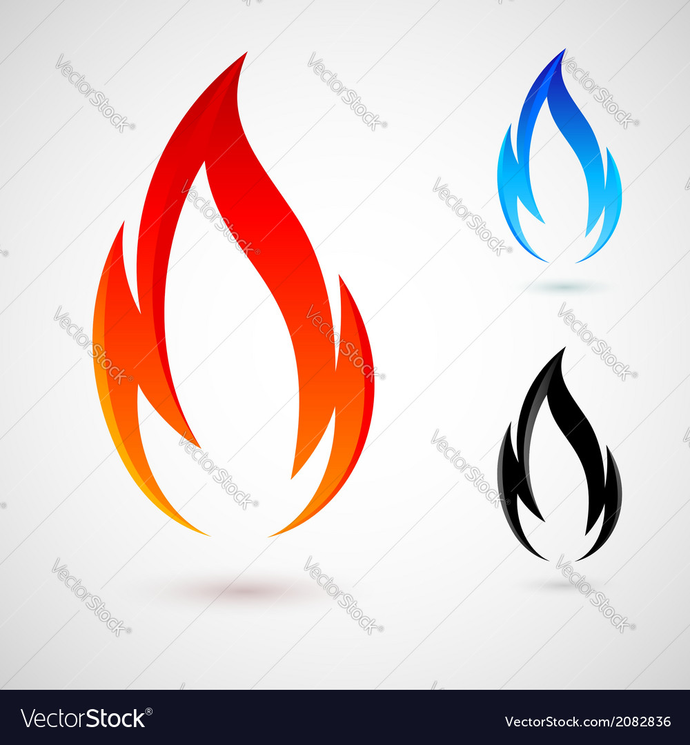 Fire elements vector