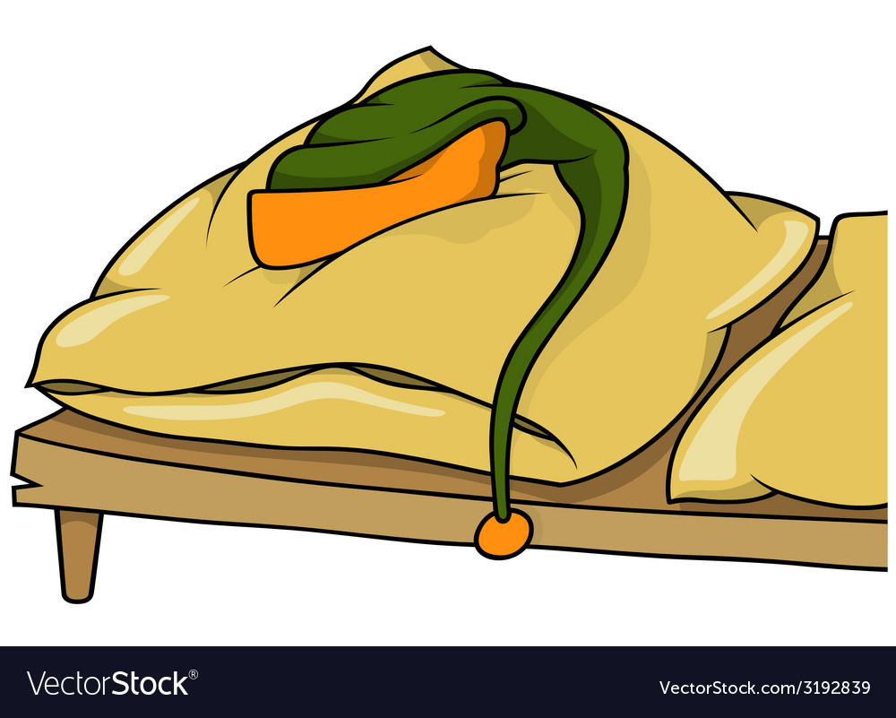 Bed and cap vector
