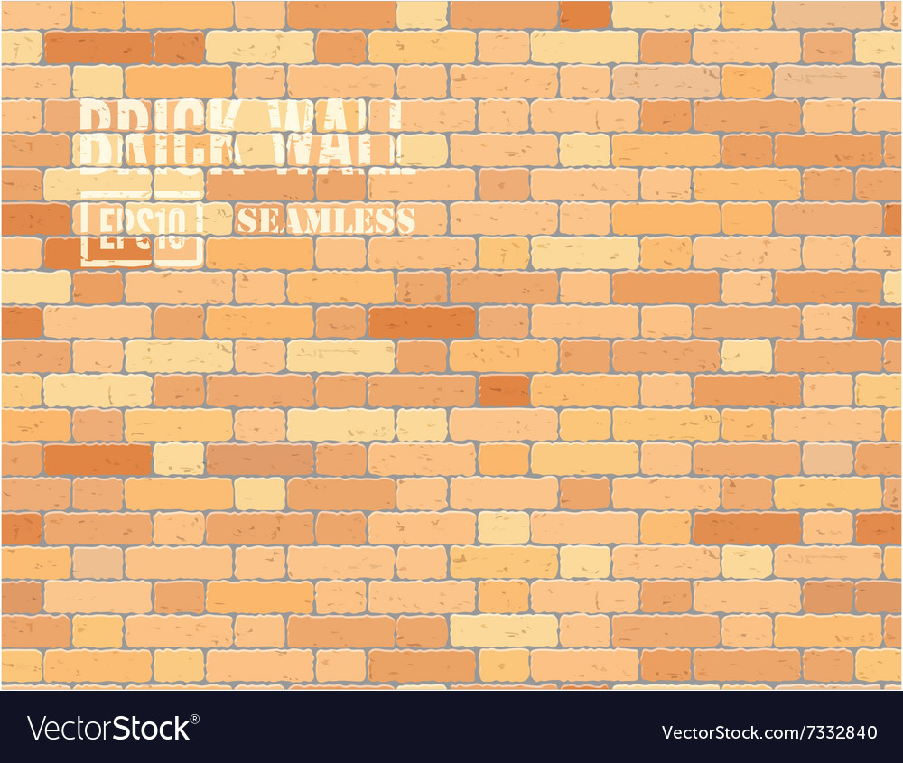 Red brown brick wall vector