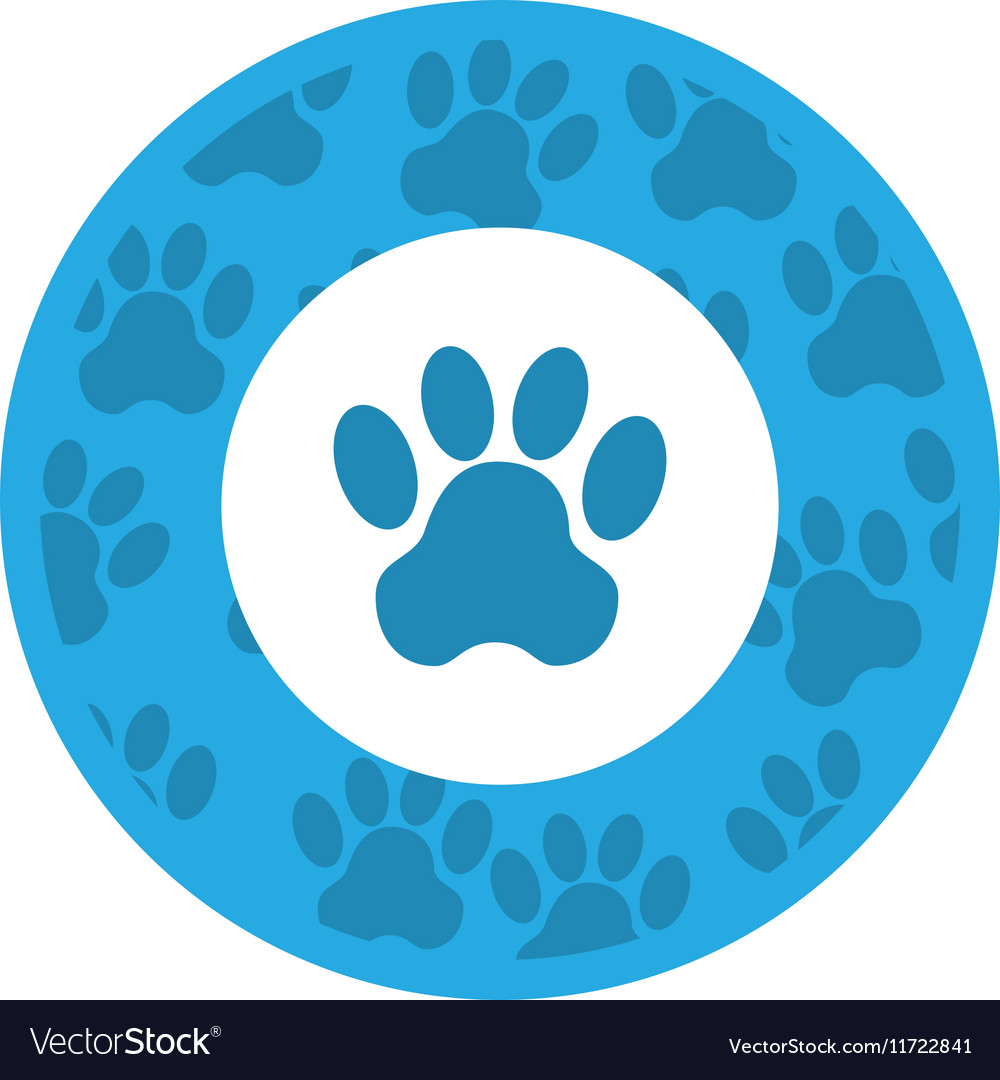 Seal with animal footprint vector