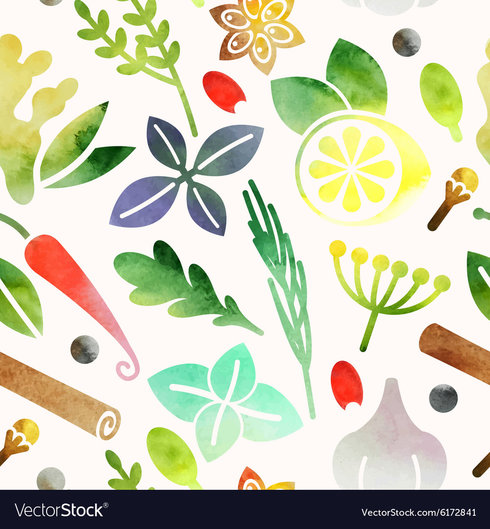 Seamless spices vector