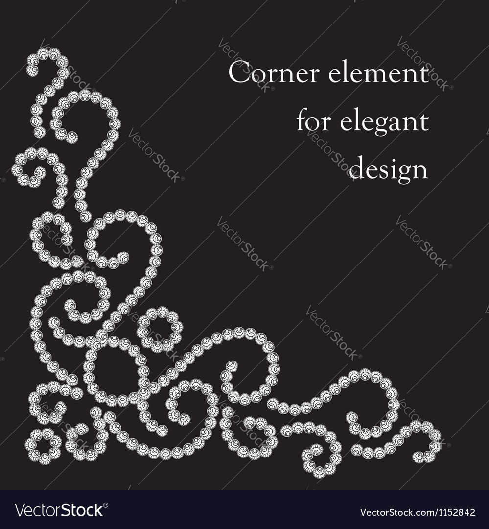 Swirl corner element vector