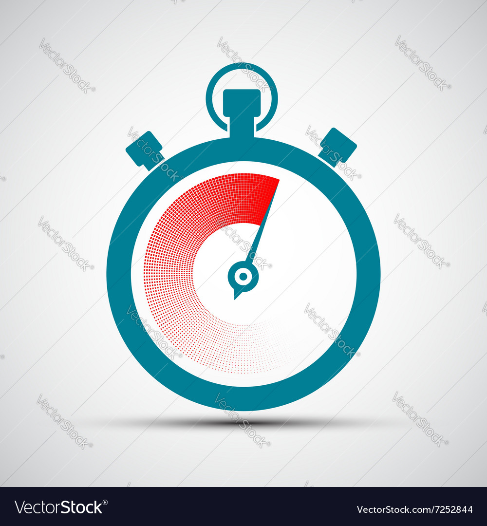 Logo stopwatch stock vector