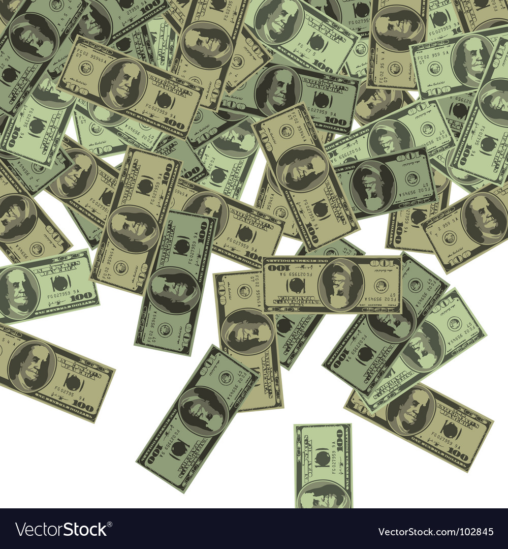 Dollars background vector