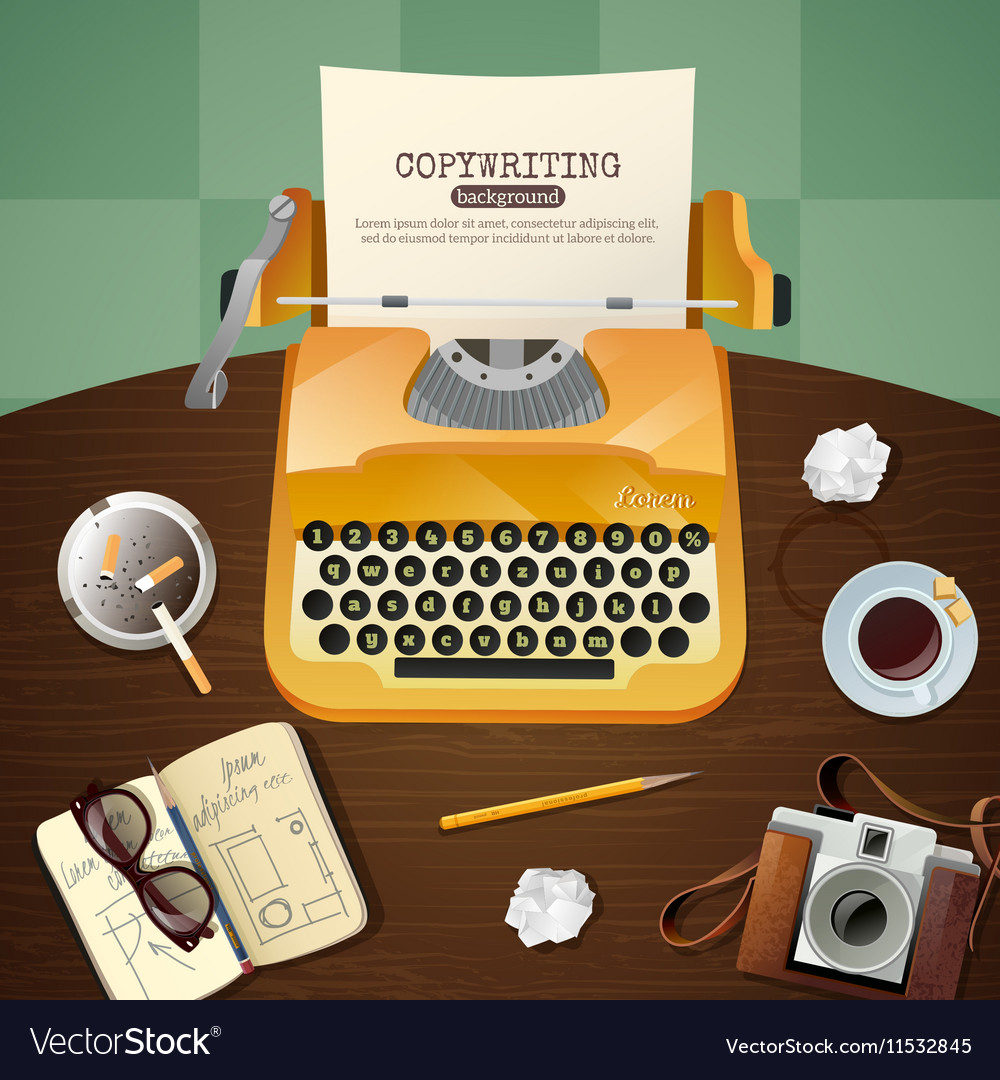 Journalist vintage typewriter vector
