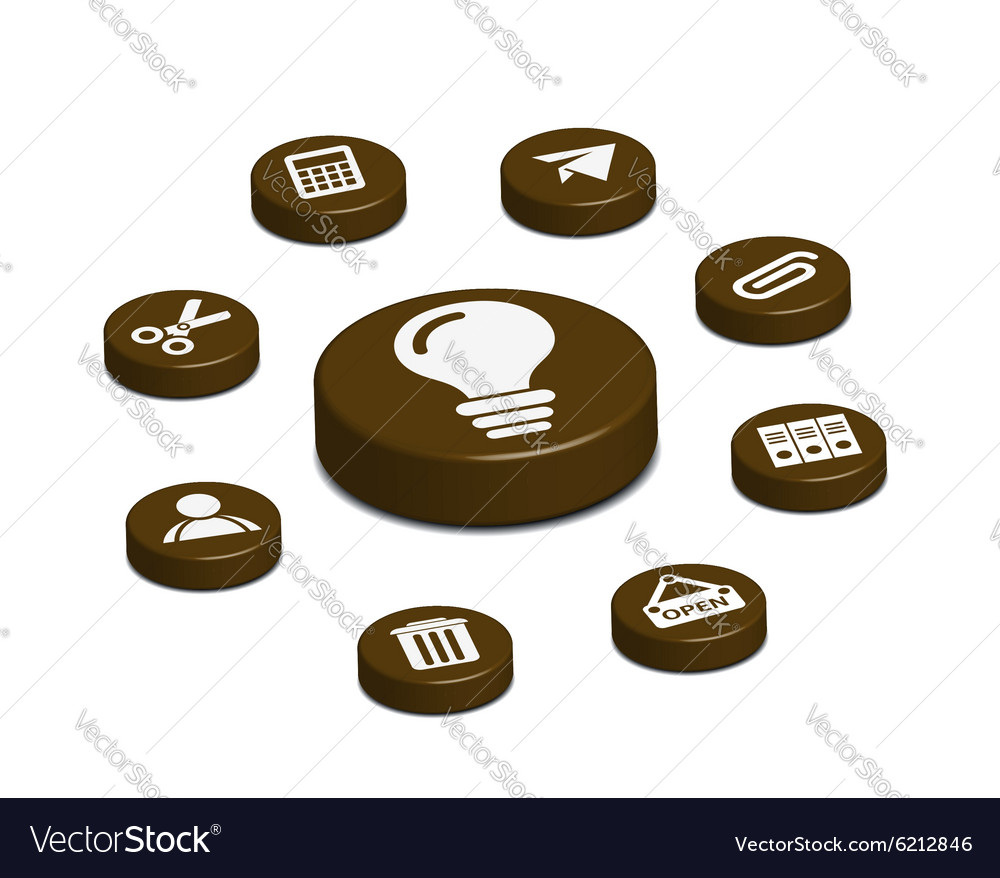 Coffee web button vector