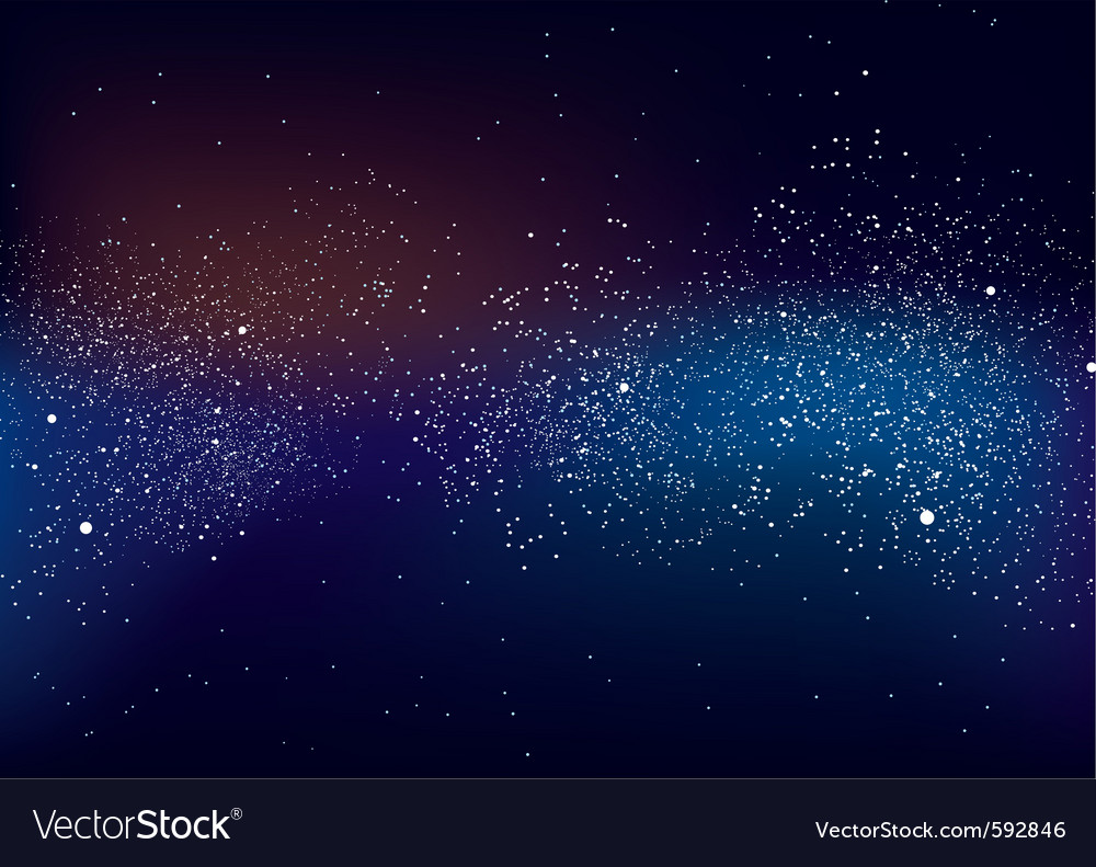 Galactic space scape vector