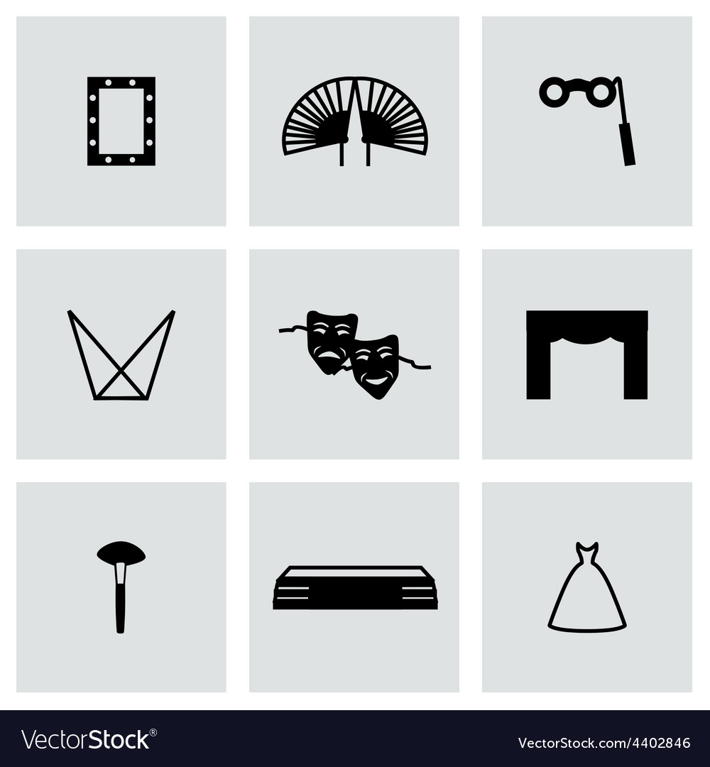 Tre icon set vector