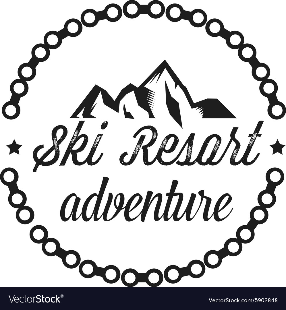 Logos of a ski resort adventure vector