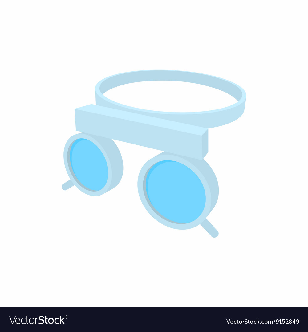 Trial frame for checking patient vision icon vector