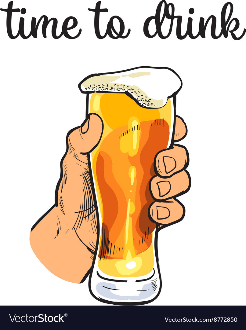 Glass mug of beer with foam vector