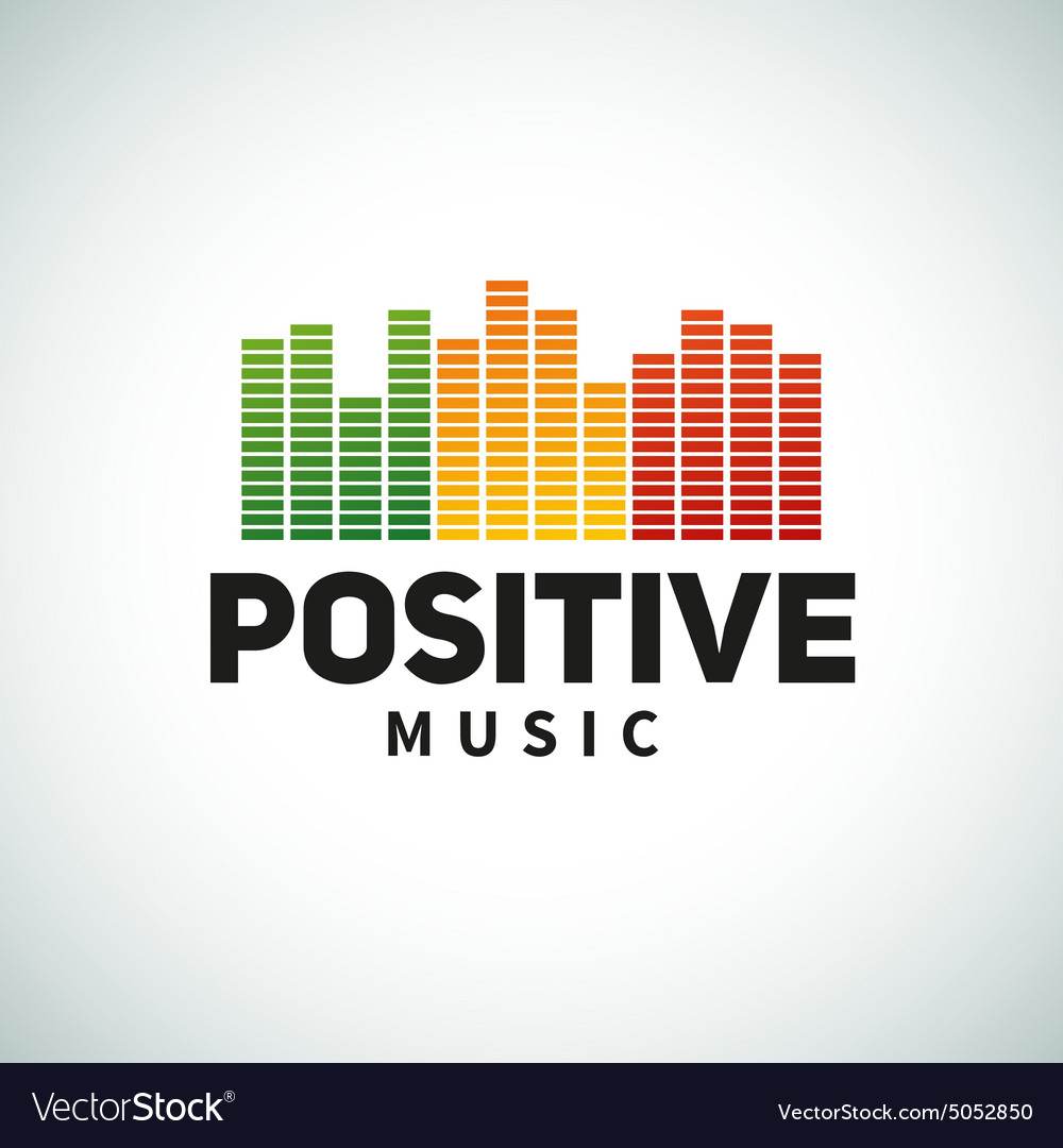 Reggae music equalizer logo emblem design vector