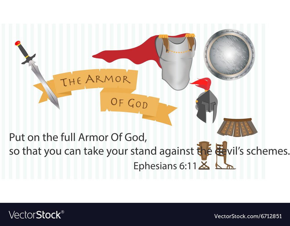 Armor of god christianity love jesus christ vector