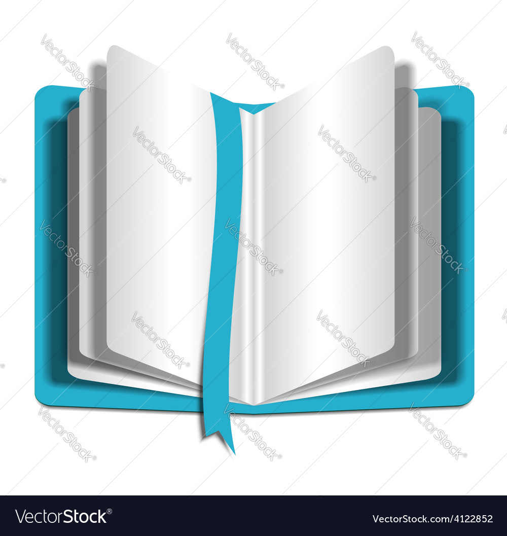 Blank notepad on white background template for vector