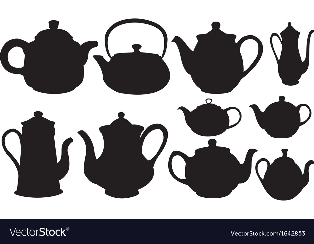 Tea pots vector